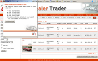 dealer trader web application add to watch list page