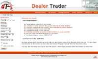 dealer trader web application main page