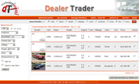 dealer trader web application search results page